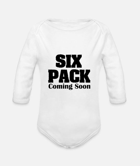 Six Baby Bodysuits - Six Pack Coming Soon - Organic Long-Sleeved Baby Bodysuit white