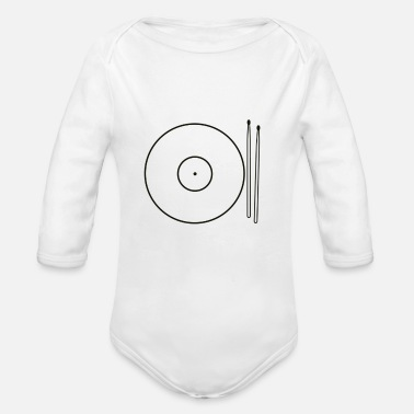 Drums Cymbals Food - Organic Long-Sleeved Baby Bodysuit