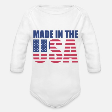 Usa Made in the USA - Organic Longsleeve Baby Bodysuit