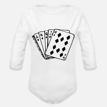 Royal Flush Poker carta di mano royal flush - Body a manica lunga per neonati