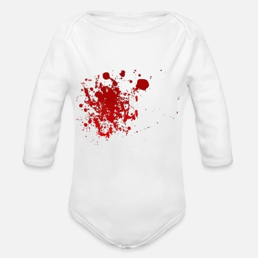 Blood Splatter Blood splatter splatter Halloween blood spatter - Organic Long-Sleeved Baby Bodysuit
