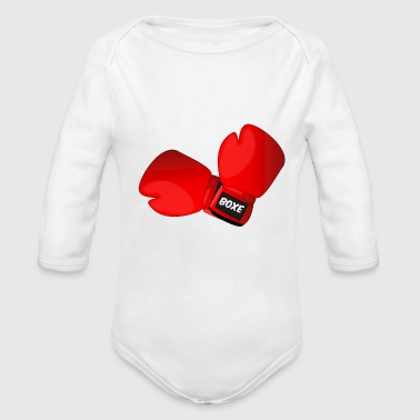 Red boxing gloves boxing gloves - Organic Longsleeve Baby Bodysuit