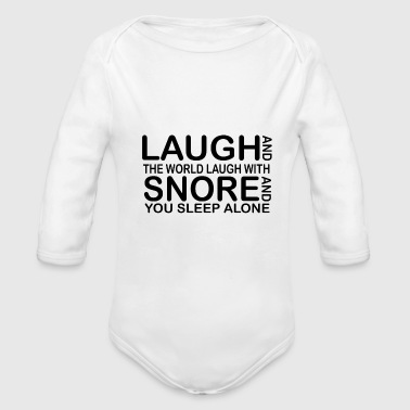 laugh funny quotes - Baby bio-rompertje met lange mouwen