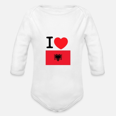 Bratan With i love albania - Baby Bio Langarmbody