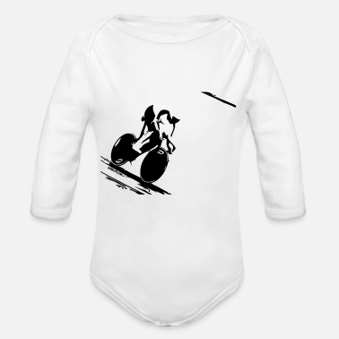 Track Track - Organic Long-Sleeved Baby Bodysuit