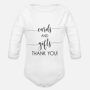 Card cards and gifts card - Organic Long-Sleeved Baby Bodysuit