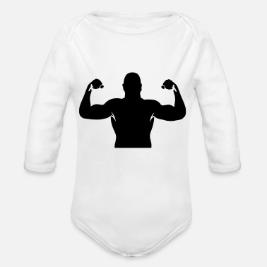 Muscles muscles - Organic Long-Sleeved Baby Bodysuit