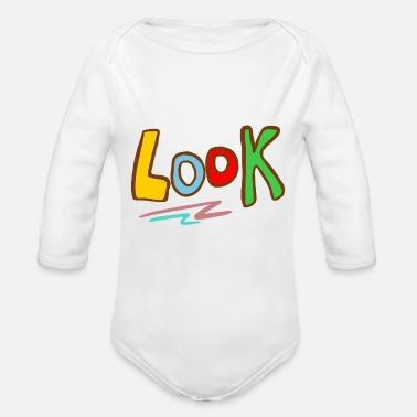 Look Look - Organic Long-Sleeved Baby Bodysuit