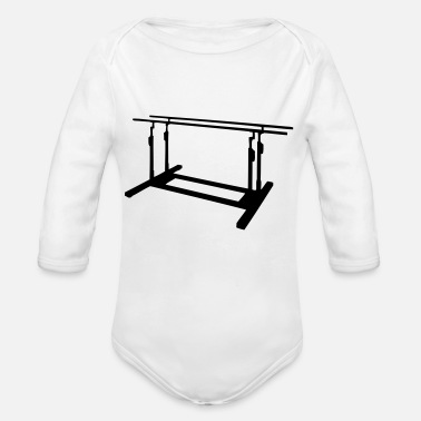 Parallel parallel bars - Organic Long-Sleeved Baby Bodysuit