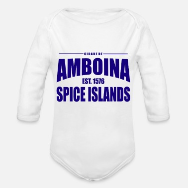 Established Cidade de Amboina - Blue - Baby bio-rompertje met lange mouwen