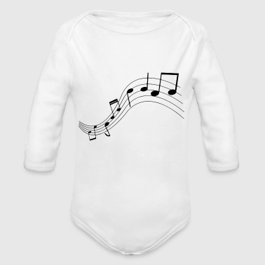 Music notes, music, notes - Organic Longsleeve Baby Bodysuit