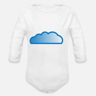 Cloud Cloud / cloud - Organic Long-Sleeved Baby Bodysuit
