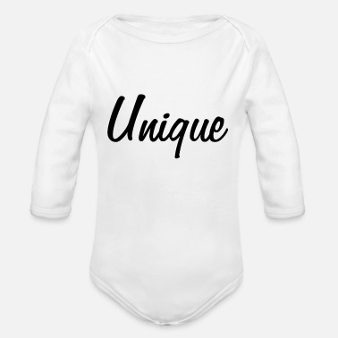 Unique UNIQUE - unique - unique - unique piece - Organic Long-Sleeved Baby Bodysuit