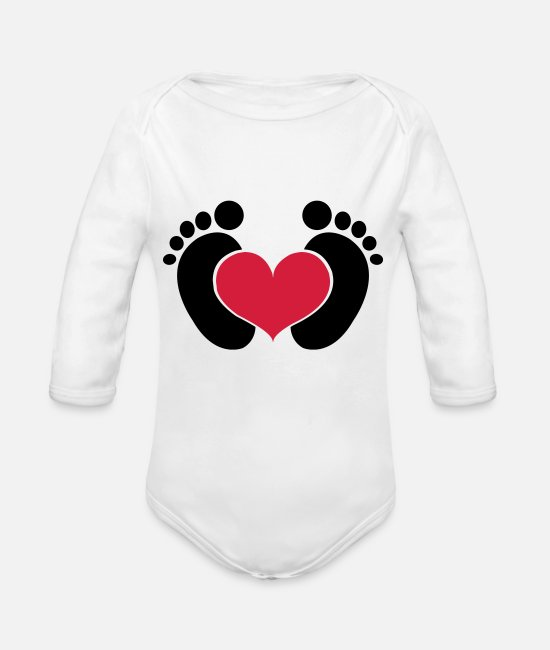 Bambino Baby Clothes - Baby - Organic Long-Sleeved Baby Bodysuit white