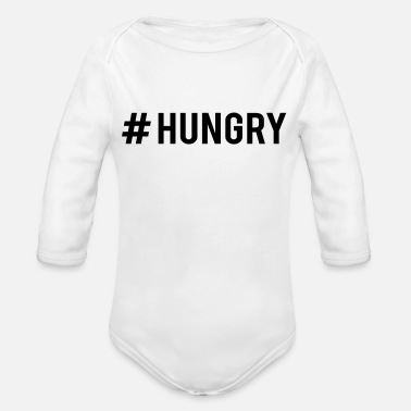 Hungry #HUNGRY - Organic Long-Sleeved Baby Bodysuit