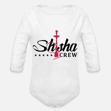 shisha crew - Organic Long-Sleeved Baby Bodysuit