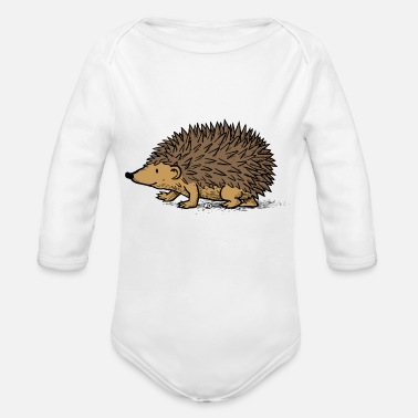 Op Egel op slab - Organic Long-Sleeved Baby Bodysuit