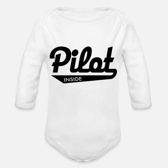 Pilot Baby Clothes - Pilot - Organic Long-Sleeved Baby Bodysuit white