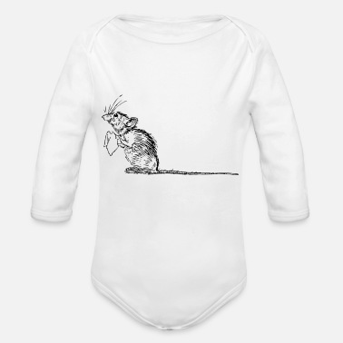 Mouse mouse - Organic Longsleeve Baby Bodysuit