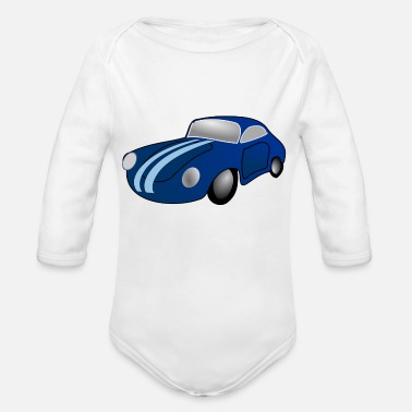 Classic Car Classic Car - Organic Long-Sleeved Baby Bodysuit