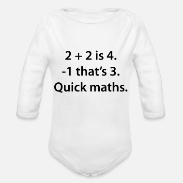 Quick Quick Maths - Organic Long-Sleeved Baby Bodysuit