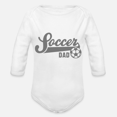 Soccer Underwear Soccer DAD - Organic Long-Sleeved Baby Bodysuit