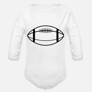 Rugby Ball rugby ball - Organic Long-Sleeved Baby Bodysuit