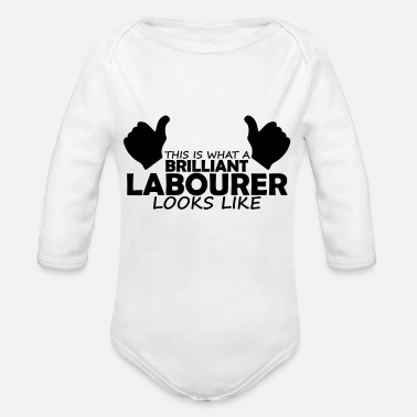 Labour brilliant labourer - Organic Long-Sleeved Baby Bodysuit