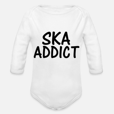 Ska ska addict - Organic Long-Sleeved Baby Bodysuit