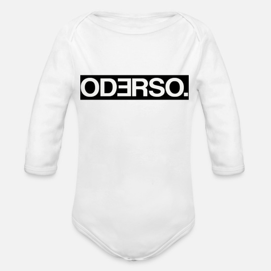 St Baby Clothes - Official logo of the Odersoo. Magazines - Organic Long-Sleeved Baby Bodysuit white