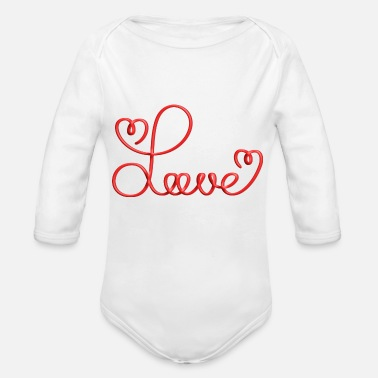 Love With Heart Love with Heart - Organic Long-Sleeved Baby Bodysuit