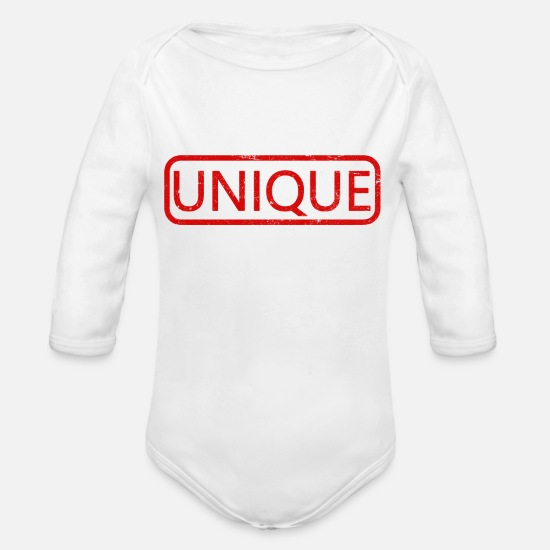 Cool Quote Baby Clothes - unique - Organic Long-Sleeved Baby Bodysuit white