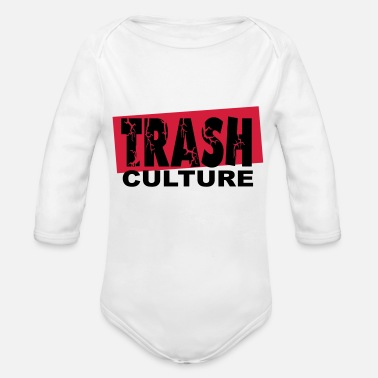 Culture trash culture - Organic Long-Sleeved Baby Bodysuit