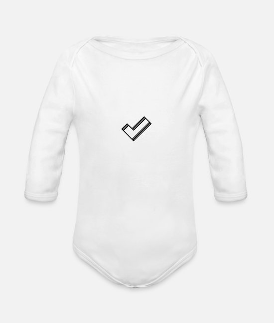 Art Baby Clothes - Timeless hook - Organic Long-Sleeved Baby Bodysuit white