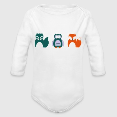 Design for Toddlers | Wildlife in Portrait - Organic Longsleeve Baby Bodysuit