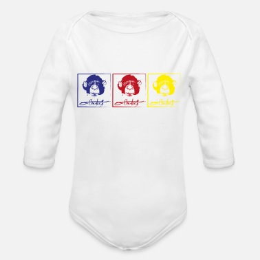 Primary Primary logo - Organic Long-Sleeved Baby Bodysuit