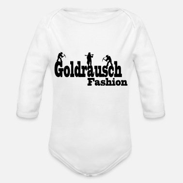Gold Rush gold rush fashion - Organic Long-Sleeved Baby Bodysuit