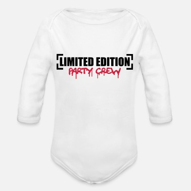 Party Limited Edition Party Crew Design - Organic Long-Sleeved Baby Bodysuit