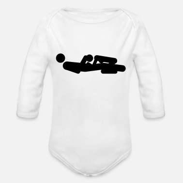 Sex Position - Organic Long-Sleeved Baby Bodysuit