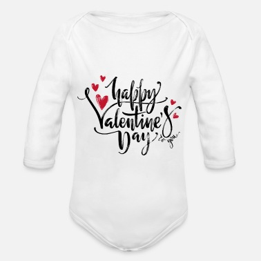 Valentines Day happy valentines day to you - Organic Long-Sleeved Baby Bodysuit