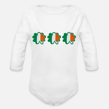 I Want To Marry Irish I Want To Have A Irish Girlfriend Irish Boyfriend Irish Husband Irish Wife Iri ♥ټ☘Kiss the Irish Shamrocks to Get Lucky☘ټ♥ - Organic Long-Sleeved Baby Bodysuit