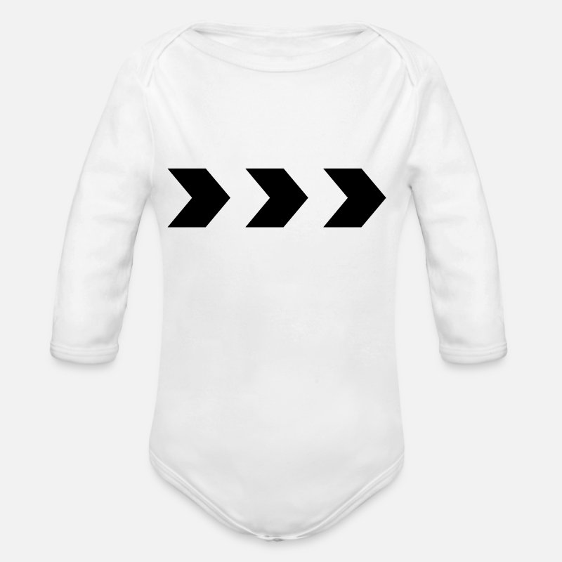 Pointer Baby Clothes - arrows - Organic Long-Sleeved Baby Bodysuit white