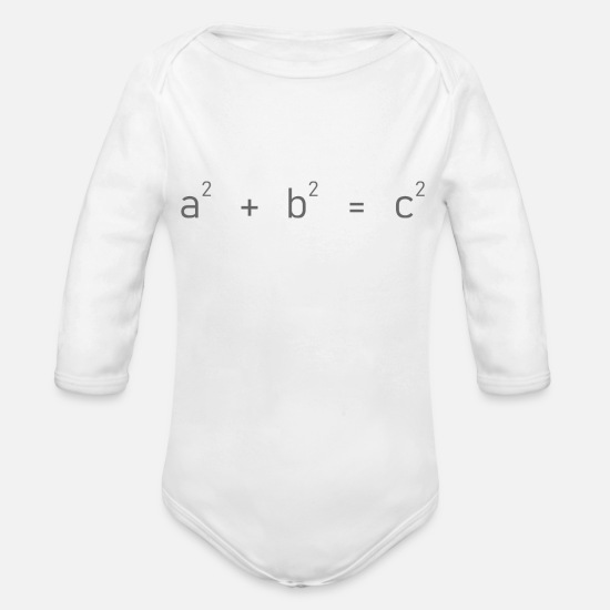 Sentence Baby Clothes - Pythagoras - Organic Long-Sleeved Baby Bodysuit white