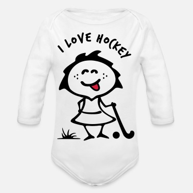 Girlie Hockey Girlie - Baby Bio Langarmbody