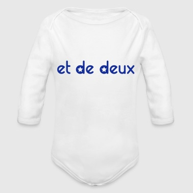 Personalised And Of Two (stars) - Personalisable - Organic Longsleeve Baby Bodysuit