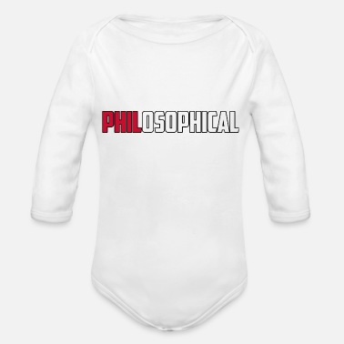 PhilosophicalBrit - Baby Bio Langarmbody