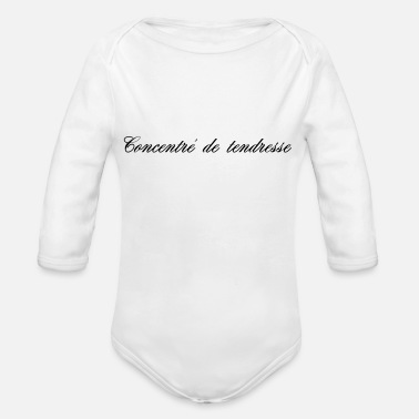 Tenderness CONCENTRATE OF TENDERNESS - Organic Long-Sleeved Baby Bodysuit