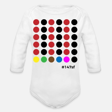 Snooker # 147sf - Organic Long-Sleeved Baby Bodysuit