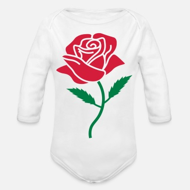 pink color - Organic Long-Sleeved Baby Bodysuit