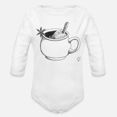 Mulled Wine Mulled Wine - Organic Long-Sleeved Baby Bodysuit